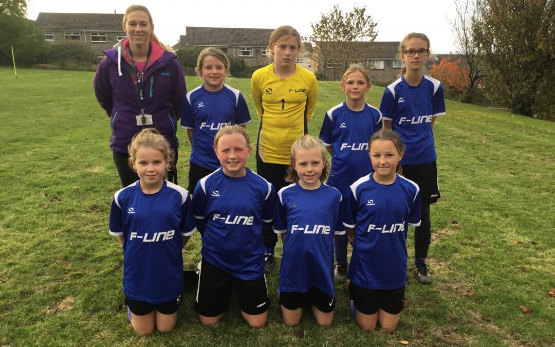 Y6 Girls Excel in League Football Cup